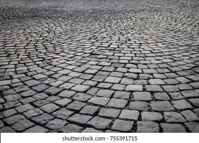 Street made of cobblestones