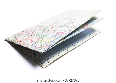 Street Map on Isolated White Background