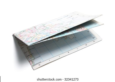 Street Map on White Background