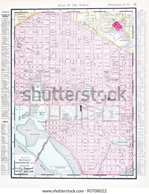 Street Map Washington Dc Usa Spoffords Stock Photo (Edit Now ...