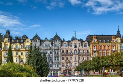 Street in Marianske Lazne city center, Czech republic - Shutterstock ID 777979528