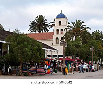 Street market at Old Town, San Diego, California