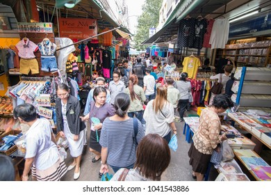 Street Market in Wang Lang in Thonburi in the city of Bangkok in Thailand.  Thailand, Bangkok, November, 2017