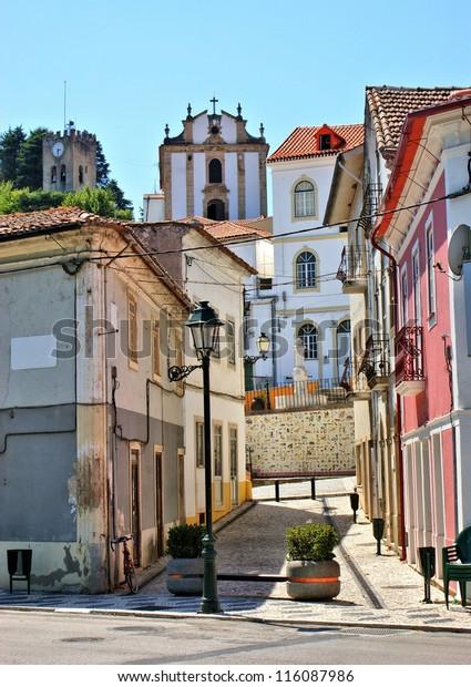 Street of Miranda do Corvo in Portugal