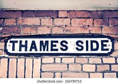 Street name sign in Windsor, UK