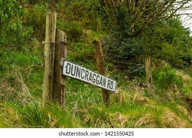 Street name signs in Oban Scotland