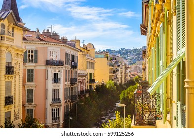 Street in  Nice, Cote d'Azur, French Riviera, France