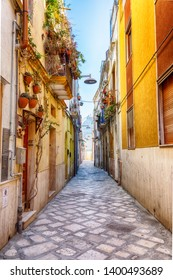 street in the old center of Brindisi, region Puglia, Italy