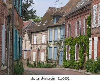 Street in an old french village