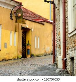 street in old part of Tallinn city