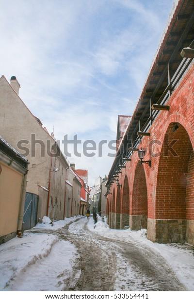 Street in Old Riga. Latvia