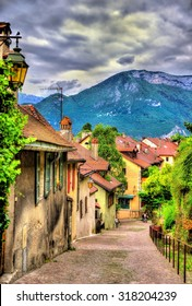 Street in the old town of Annecy - France