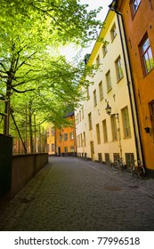 A street in the old town 'gamla stan' in Stockholm, Sweden