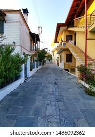 street in old town of greece