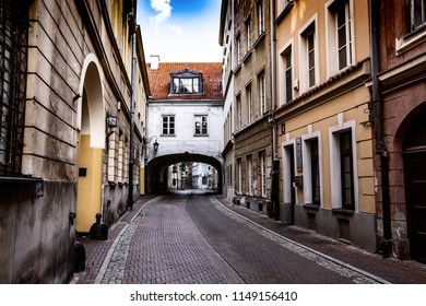 The street of the old town inn Warsaw