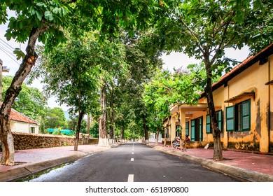 Street on Con Dao island, Ba Ria Vung Tau, Vietnam