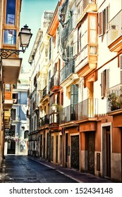 Street in Palma de Mallorca, Spain, Balearic islands, Mallorca