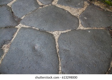 Street pavement in Pompeii, Italy.