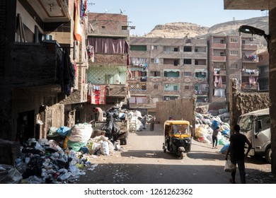 Street photography of street in Manshiyat Naser - also noun trash City - in cairo egypt