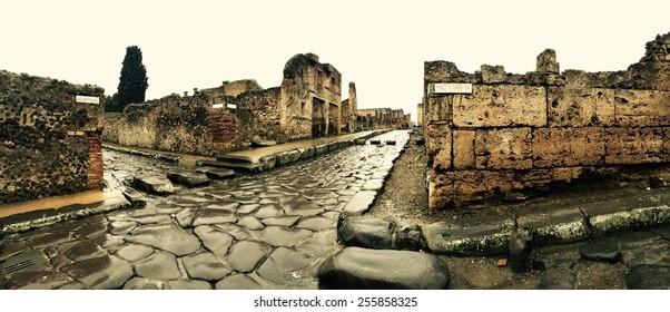 Street in Pompeii, Italy
