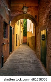 street in Portofino, Ligurian Riviera, Italy