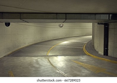 street ramp to undeground car parking garage