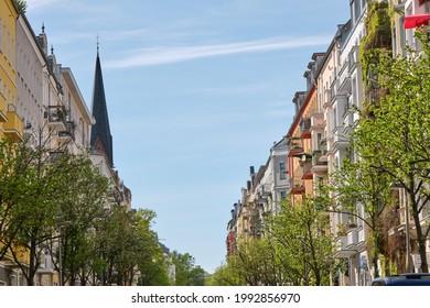 Street with renovated old apartment buildings seen in Prenzlauer Berg, Berlin - Shutterstock ID 1992856970
