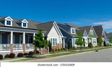 Street of residential suburban homes