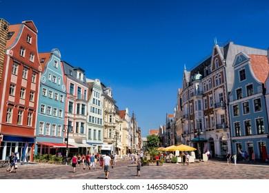 kröpeliner street in rostock, germany
