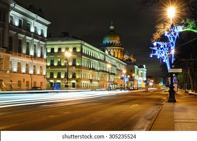 Street in Saint Petersburg near Saint Isaac's Cathedral