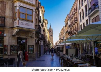 Street. Salamanca city, Castile and León, Spain. Picture taken – 29 july 2017.