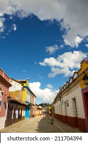 Street at San Christobal De Las Casas with clouds