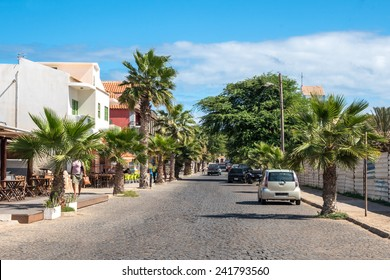 Street of Santa Maria in Sal Cape Verde - Cabo Verde