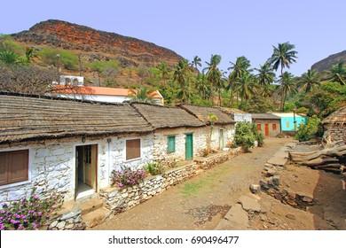 Street in Santiago island, Cape Verde Archipelago