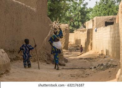 Street scene - Bambara, Mali, West Africa