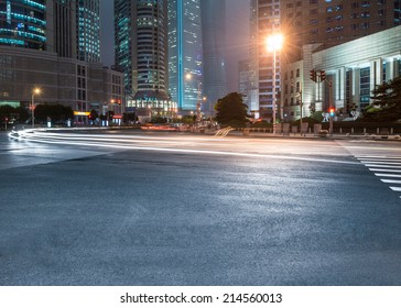 the street scene of the city in china