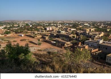 Street scene in the early morning, Bamako, Mali