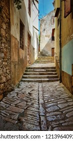 street scene in Malj Losinj town, Croatia.
