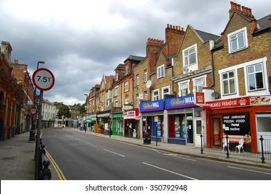 Street scene in the north London.