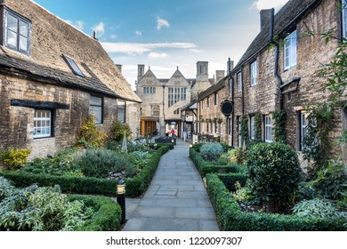 Street scene in Oundle in the English county of Northamptonshire