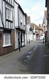Street scene in Sandwich, Kent, UK