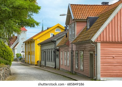 Street scene from the Swedish town of Kungalv.