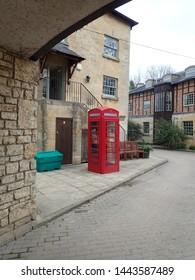 Street scene with telephone box
