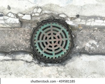 Street sewer drain.