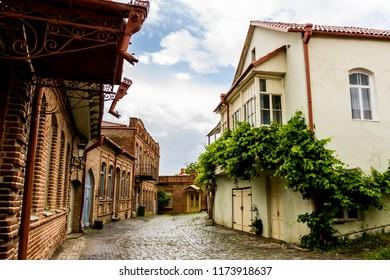 Street in Sighnaghi (Signagi) town in Georgia