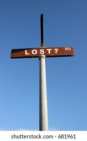 LOST? street sign