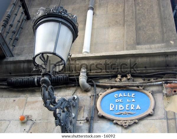 Street sign in Bilbao, Spain.