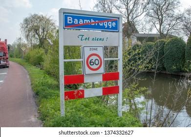 Street Sign Braambrugge The Netherlands 2019