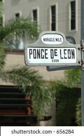 street sign in Coral Gables, FL