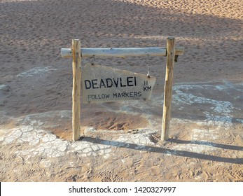 Street sign  to the Deadvlei , Namibia, Africa